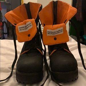 Poster girl flight boots